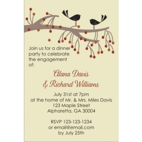 Birds and Tree Invitation