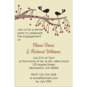 Birds and Tree Invitation