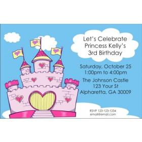 Princess Fairy Castle Invitations