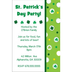 St. Patrick's Day Party Invitation - Feeling Lucky