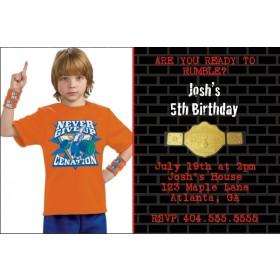 Let's Rumble Wrestling Invitation - Photo