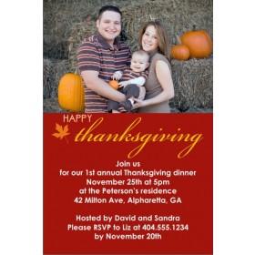Happy Thanksgiving Fall Autumn Photo Card Invitation