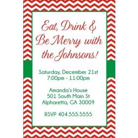 Chevron Christmas Holiday Party Invitation
