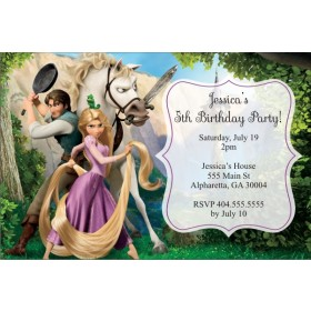 Tangled Personalized Birthday Invitation