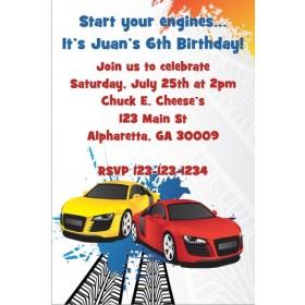 Race Car Invitation - Sporty Racers