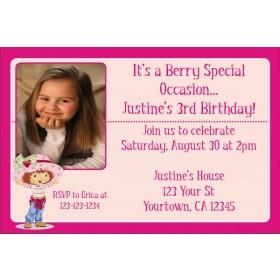 Strawberry Shortcake Photo Invitations