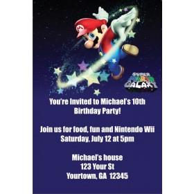 Super Mario Galaxy (Nintendo Wii) Invitations