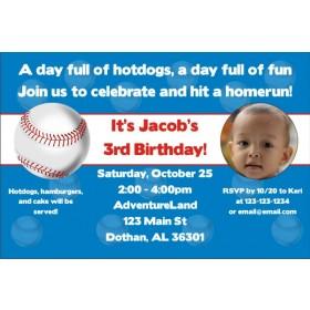 Baseball Photo Invitations