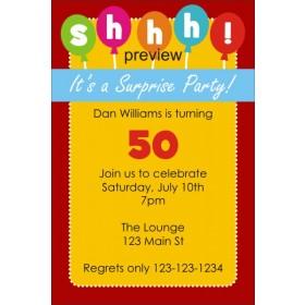 Shhh..It's Surprise Birthday Party Invitation