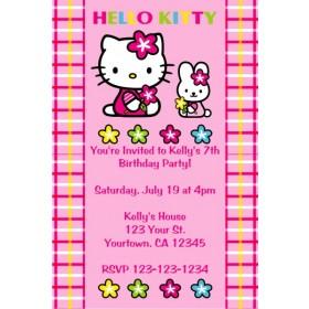 Hello Kitty Invitations - Hello Kitty and Bunny