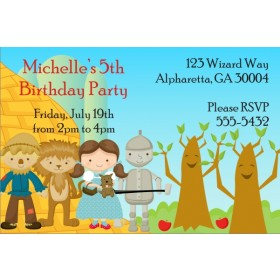 Wizard of Oz Invitation - Happy Trees