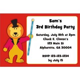 Circus Lion Invitation