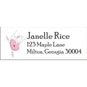 Angelina Ballerina Return Address Labels