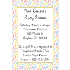 Baby Footprints Invitation