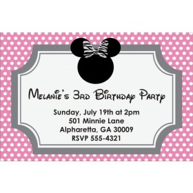 Mousy Dots Invitation (Similar to Minnie Mouse)