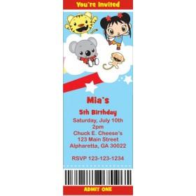 Ni Hao Kai-Lan Ticket Style Invitations (slim style)