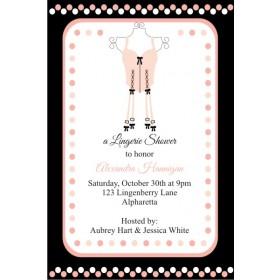 Lingerie Bridal Shower Bachelorette Party Invitation