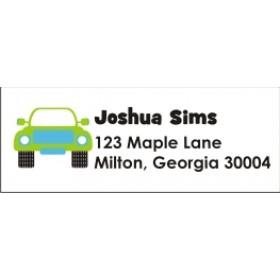 Monster Truck Return Address Labels - Blue Green