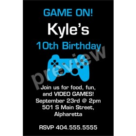 Game On! Video Game Invitation - Select Color