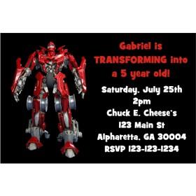 Transforming Robot (Like Transformers) Invitation
