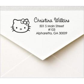Hello Kitty Custom Return Address Self Inking Stamp