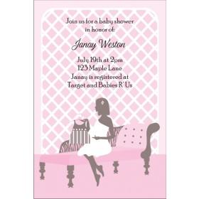 Sitting Pretty Baby Shower Invitation - Pink
