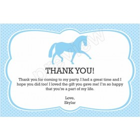 Horse Thank You Card - Custom Color