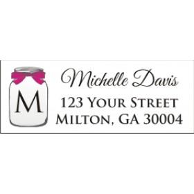 Mason Jar Return Address Labels