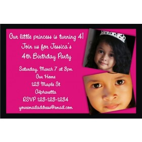 Photo Invitation 13 (Hot Pink and Black)