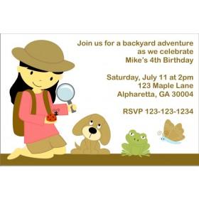 Backyard Adventure Invitation (Customizable Girl)