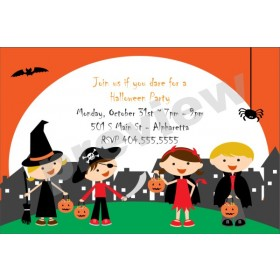 Trick or Treat Kids Halloween Party Invitation