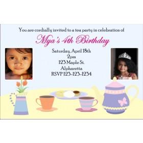 Tea Party Photo Invitation