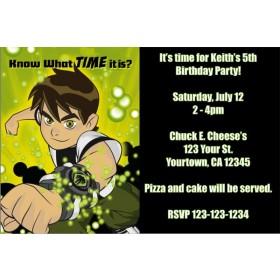 Ben 10 Invitations 4