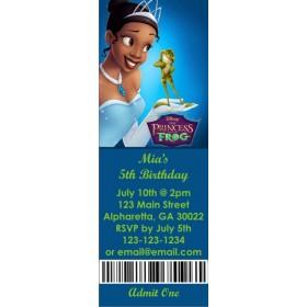 Princess and the Frog Princess Tiana Ticket Style Invitation (slim style)