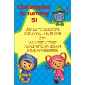 Team Umizoomi Birthday Party Invitation - Blue