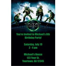 Teenage Mutant Ninja Turtles Invitations - TMNT