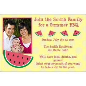 Watermelon Photo Invitation