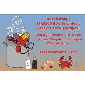 Seafood Boil Invitation