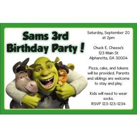 Shrek Invitations