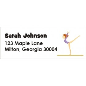 Gymnastics Return Address Labels