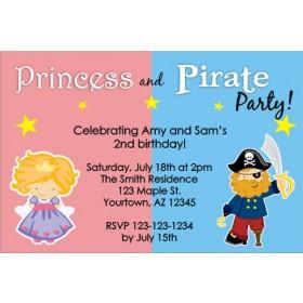 Princess and Pirate Birthday Invitation