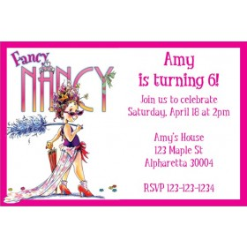 Fancy Nancy Party Invitation