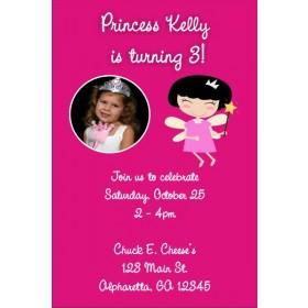 Fairy Princess Photo Invitations
