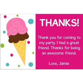 Ice Cream Thank You Cards