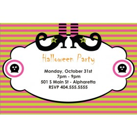 Spooky Witch Halloween Party Invitation