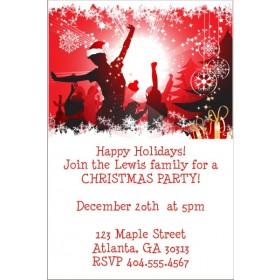 Christmas Celebration Holiday Party Invitation