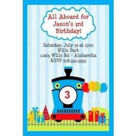 Train  Invitation - Choo Choo Blue