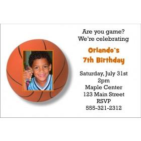 Basketball Invitation with Optional Photo