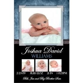 Newborn Baby Birth Announcement 5 (blue)