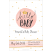 Oh Baby - Baby Shower Invitation template for girl